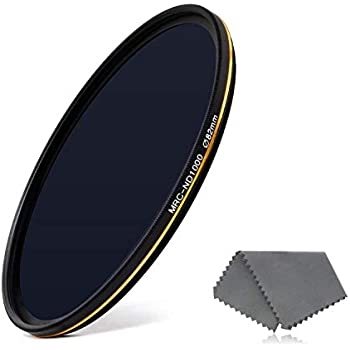 LENSKINS 82mm ND 1000 Filter, 10 Stop Neutral Density Filter for Camera Lenses, 16-Layer Multi-Resistant Coated, German Optics Glass, Weather-Seal ND Filter with Lens Cloth