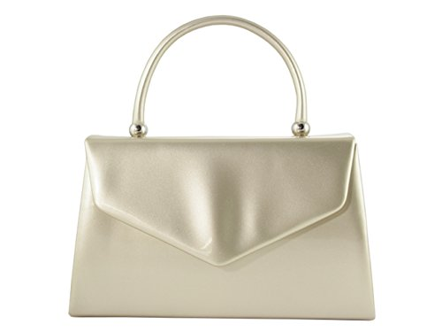 LeahWard Women's Top Handbag Cross Body Bag Wedding Clutch Bags Evening Purser s Gold 088