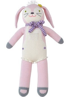 - Blabla Fleur The Bunny Plush Doll - Knit Stuffed Animal for Kids. Cute, Cuddly & Soft Cotton Toy. Perfect, Forever Cherished. Eco-Friendly. Certified Safe & Non-Toxic.