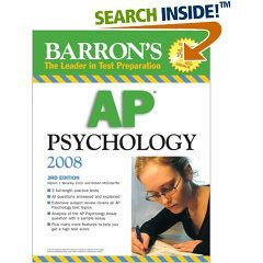 AP Psychology Study Guide Official Title is :Barron's AP Psychology 2008 by Robert McEntarffer (Author), Allyson J. Weseley Ed.D. (Author) (Barron's How to Prepare for the Ap Psychology Advanced Placement Examination) (Paperback)
