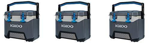 (Igloo BMX 25 Quart Cooler - Carbonite Gray/Carbonite Blue (Pack of 3.))