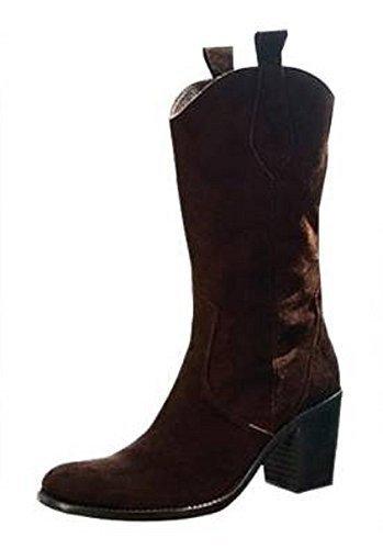 Apart Stiefel - Botas de cuero para mujer marrón - marrón oscuro