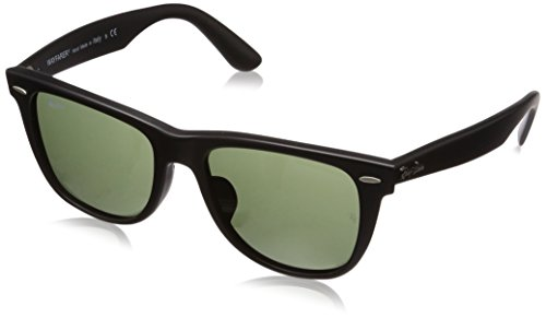 Ray-Ban RB2140F Wayfarer Sunglasses Matte Black / Crystal Green (Matte Black Crystal Green)