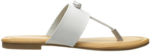 Women Knot T Rampage Silver White Sandal Paddy Slip Insole Bar Foam On Memory Thong gXXdrq