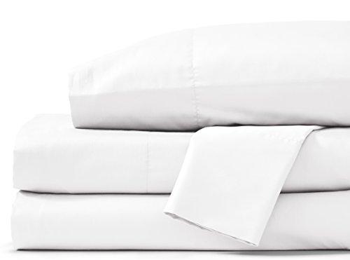Grund Savannah 100% Organic Cotton Luxury, Cal King set, White, 4 piece Set (2 pillow cases, 1 flat sheet, 1 fitted sheet)