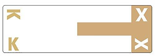 AlphaZ NCC Color-Coded Labels, Letters K&X, Light Brown, 100 Labels per Pack () - SMEAD 67162