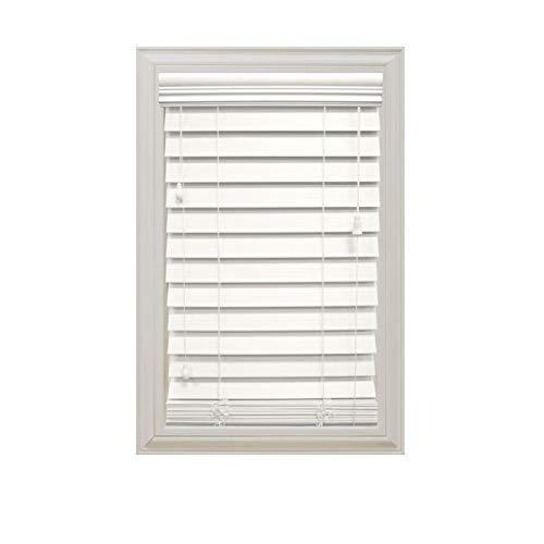 - Home Decorators Collection White 2-1/2 in. Premium Faux Wood Blind - 27 in. W x 72 in. L (Actual Size is 26.5 in. W x 72 in. L) (1 Pack)