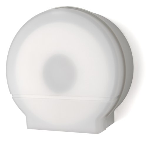 (Palmer Fixture RD0026-03F Single Roll Jumbo Tissue Dispenser with Core Adaptor, White Translucent)