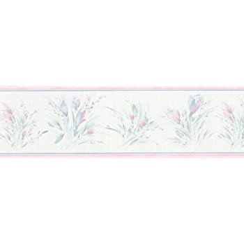 Brewster 418B040 Borders and More Lily Trail Wall Border 6.825-Inch by 180-Inch