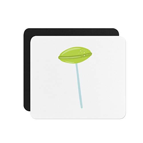 - Oval Lollipop Green #2 Neoprene Mouse Pad 9.25