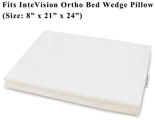 (InteVision 400 Thread Count, 100% Egyptian Cotton Pillowcase. Designed to Fit the InteVision Ortho Bed Wedge Pillow (8