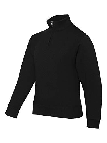 Jerzees Youth 8 oz. NuBlend Quarter-Zip Cadet Collar Sweatshirt XL BLACK