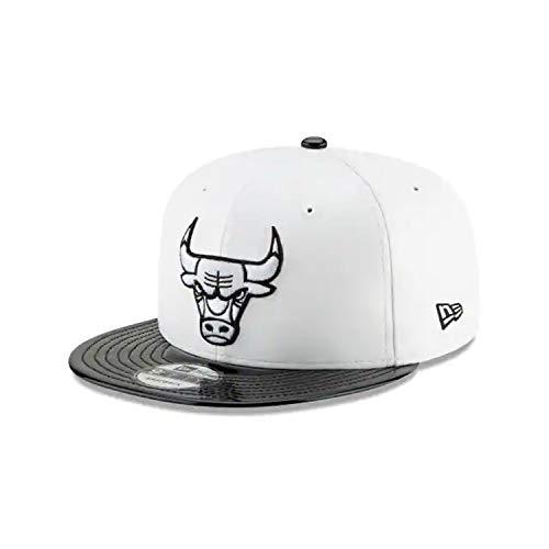 - New Era Chicago Bulls Retro Hook Black/White Adjustable Snapback Hat (White)