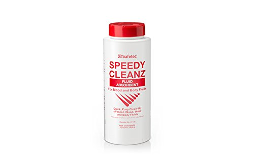 Safetec Speedy Cleanz Fluid Absorbent 16oz. Shaker Top Bottle (12 bottles/case) (for urine, vomit and body fluid spills) by Safetec