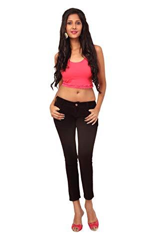Fashion Stylus Women's Slim Fit Jeans Black Color
