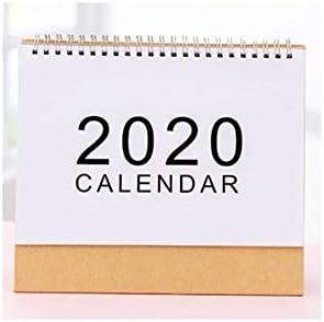 2020 Planner Einfache Desktop-2020-Kalender Desktop-Papier Kalender Doppel Täglich Scheduler Tabelle Planner Jahr Agenda Organizer (Color : 21.5X21cm)