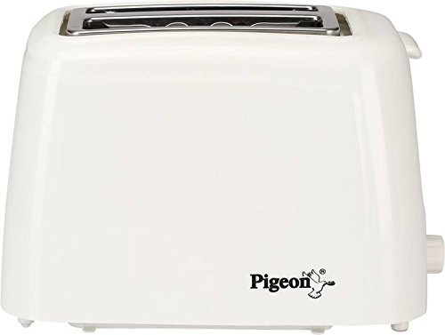 Pigeon 2-Slice Auto 700-Watt Pop-up Toaster (White)