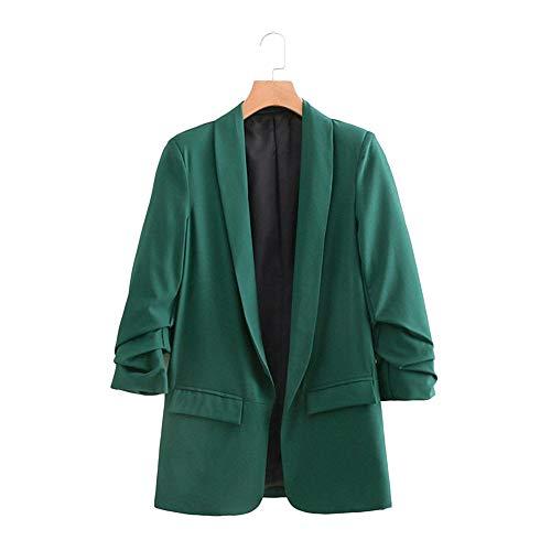 Veste Longues Revers col 5 Couleur des Simple chale d'affaires Lrud Costumes Bonbons de Femmes Manches Vert U0qwPngR