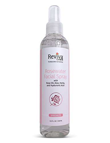 - Reviva Labs Rosewater Facial Spray, 8 Ounce