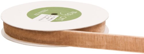 May Arts 3/4-Inch Wide Ribbon, Antique Gold Velvet Corduroy