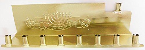 Hanukkah Menorah for Candle Gold -