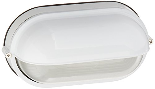Nauticus - Wet Location Bulkhead - White Finish - Frosted Glass - Fixture Wet Wall Location