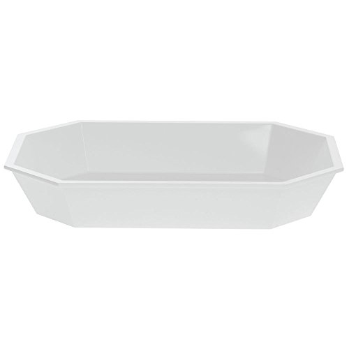 Gloss Carlisle High - Carlisle High-Gloss 2 lb Low-Profile White Plastic Octagonal Crock - 10 1/2 L x 7
