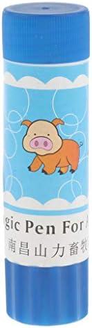 マーキングペン 豚用 安全 水溶性 安全性 明るい色 目を引く プラスチック 全3色 - 青