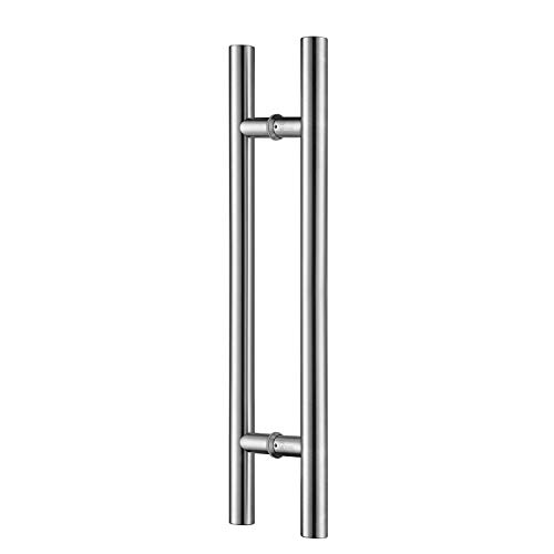 TOGU TG-6012 60 inches Solid Standoffs Heavy-Duty Commercial Grade-304 Stainless Steel Push Pull Door Handle/Barn Door Pull Handle/Glass Pulls, Full Brushed Stainless Steel Finish