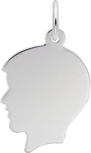 - Rembrandt Flat Boys Head Charm - Metal - 14K White Gold