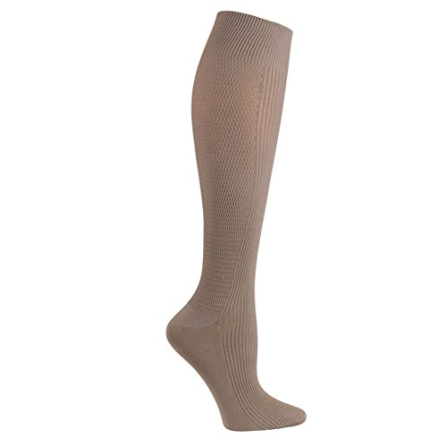 Cherokee Women's 8-10 Mmhg Compression True Support Socks Taupe