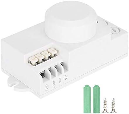 Interruptor Automático de Luz de Inducción, Interruptor de Detector de Movimiento de Cuerpo Ajustable, Interruptor de Luz de Sensor de Microondas de 5.8 Ghz Para Escaleras, Pasillos, Ascensores: Amazon.es: Bricolaje y herramientas