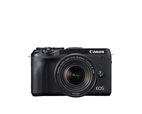 Canon 3611C021 EOS M6 Mark II Mirrorless Camera,(Black)+Ef-M 18-150mm F/3.5-6.3 IS STM + Evf Kit