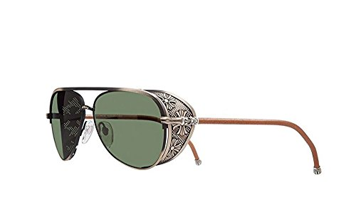 Chrome Hearts - Probasshole - Sunglasses (Antique Gold - Tan Leather w/ Side Shield, Dark - Mens Chrome Sunglasses Hearts