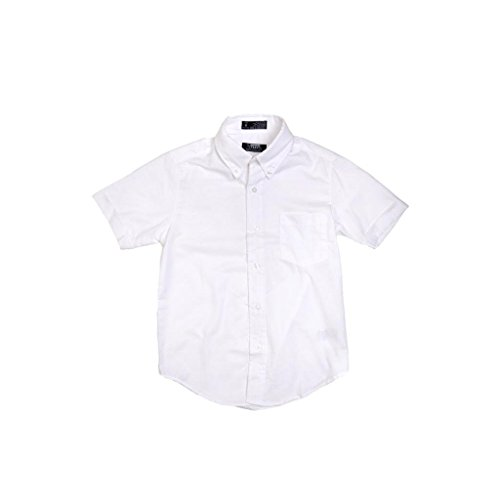 French Toast Boys White Short Sleeves Oxford Shirt - E9003 - White, 8 by French Toast