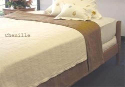 - Organics and More Cotton Chenille Herringbone Blanket - King - Natural - KGCHB-1