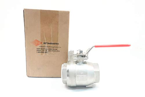 KF CONTROMATICS Z44 GS LH M3 Manual 150 Stainless 2IN NPT Ball Valve D630695 from K F Contromatics