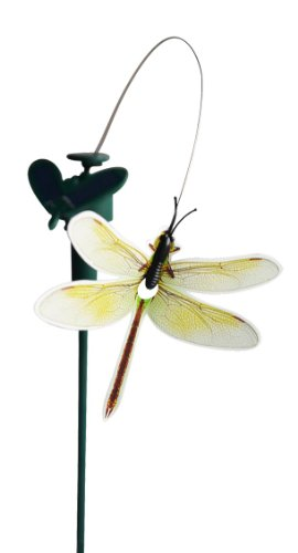 Solar Yard Stake Fluttering Insects, Solar or Battery Powered (Dragonfly) ()