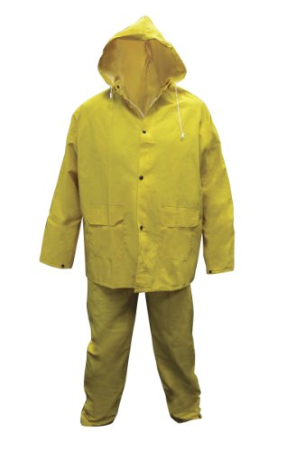 SAS Safety 6813-01 Heavy-Duty PVC/Polyester Rain Suit, Large