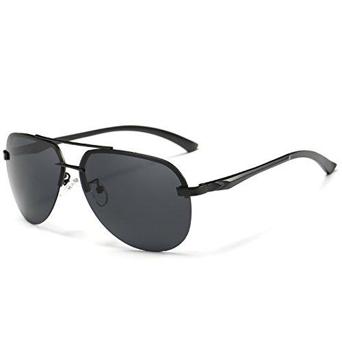 de frío estilo de Black Gafas hombres gafas de sol del rojo lentes gafas de de conducción espejo reflectante piloto Grey TIANLIANG04 gafas para metal de los sol B5wqn14Ud1