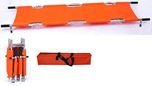 (LINE2design Four Fold Stretcher w/Handles & Carrying Case Strengthened Aluminum Orange Stretcher)