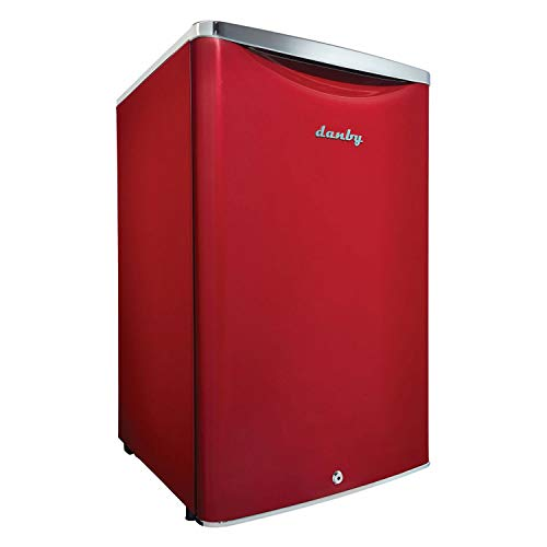 Danby DAR044A6LDB 4.4 cu.ft. Contemporary Classic Special Edition Compact All Refrigerator, Scarlett Metallic Red -