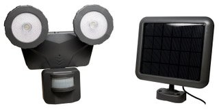 Novolink Nl-DSB1 160° Solar LED 500 Lumen Bluetooth Smart Control Motion Activated Light, Dark Grey For Sale
