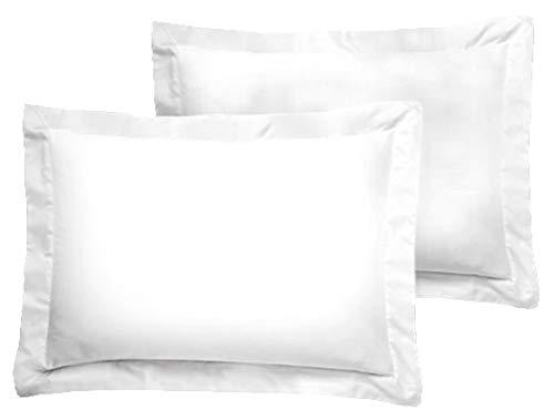 American Pillowcase Luxury Egyptian Cotton 300 Thread Count 2-Piece Pillow Sham Set - Boudoir, White