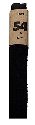 Nike Unisex Replacement Shoelaces Flat String Cords Shoe Laces (Black, 54)