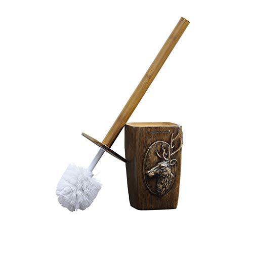 - Toilet Brushes and Holders Bathroom WC Full Closed Toilet Brush Set Deer Head Resin Loo Brush