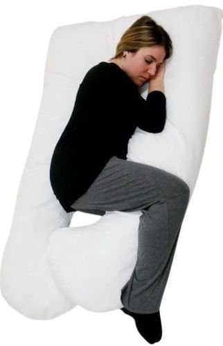 60'' x 35'' Pillow with Zippered Cover U Shaped Premium Contoured Body Pregnancy