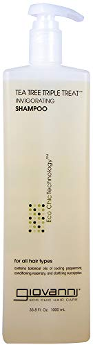 Giovanni Eco Chic Tea Tree Triple Treat - Invigorating Shampoo (33.8 (Invigorating Shine Free Cleanser)