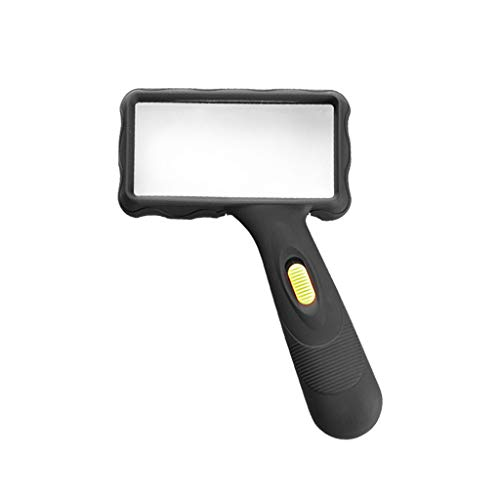 BJLWTQ Handheld Reading Magnifier 10X High Power Magnifying Glass,Magnifier with Glass Lens ()