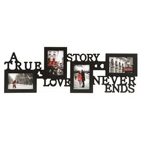 KNL-Store-A-True-Love-Story-Never-Ends-4-Picture-Collage-Photo-Frame-4x6-Inch-Black